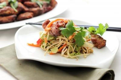 Twice Cooked Duck with Asian Slaw