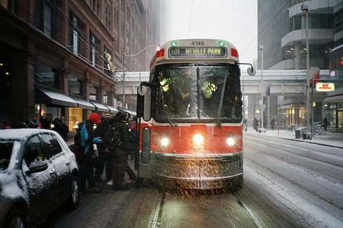 TTC STREETCAR! Omg how i miss Toronto so bad :(