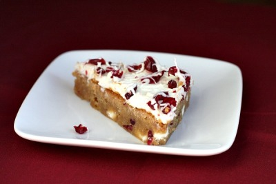 foodopia:  cranberry bliss bars: recipe here