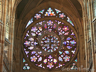 Rose window of Cathedral St.Vit in Prague