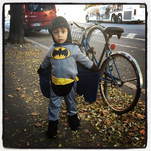 I met Batman on Hudson St (Taken with instagram)