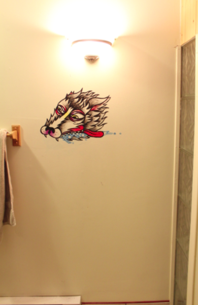 philberge:  Did this on my girlfriends bathroom wall.