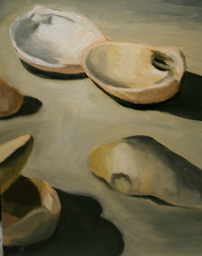 here's an old limited palette still life of shells for tumblr