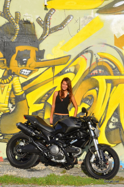 More of Devy (Devonne Duerbaum) from South Florida and her Monster 696 Carbon