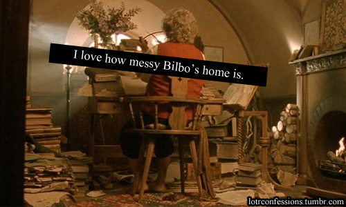 lotrconfessions:  I love how messy Bilbo's home is.