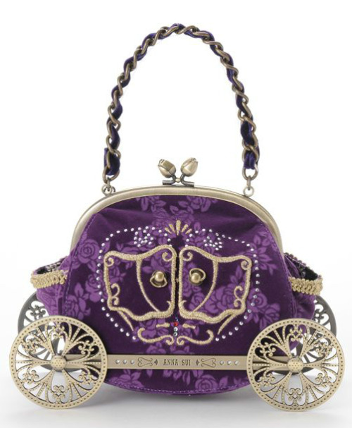 Anna Sui — Princess Handbag — ¥40,950 Also comes in black. A bag fitting for any Lolita, Dolly-kei, girly goth or princess at heart.  Discuss this post on the HARAJUJU.net community