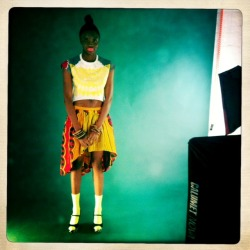 Behind the scenes :: Chichia for Made by Africa SS12 lookbook shoot