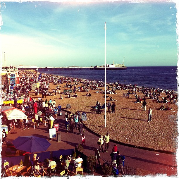 #sea #sky #beach #brighton (Taken with instagram)