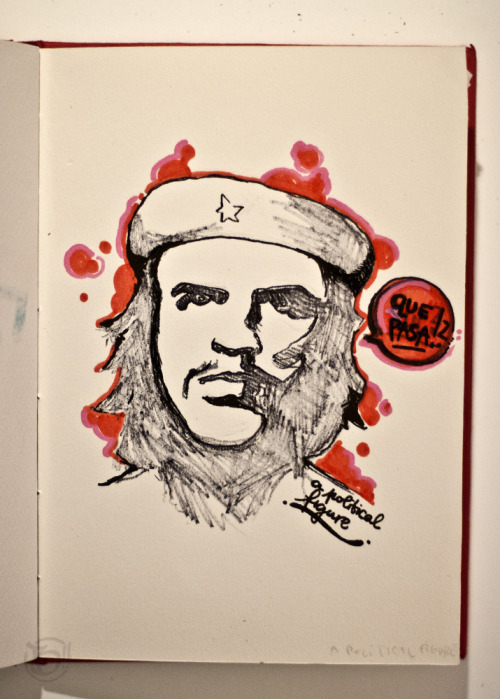 "30 Day Challenge: 29. Draw A Political Figure (This supposed to be Che, but I suck at drawing portraits ""-.-)"