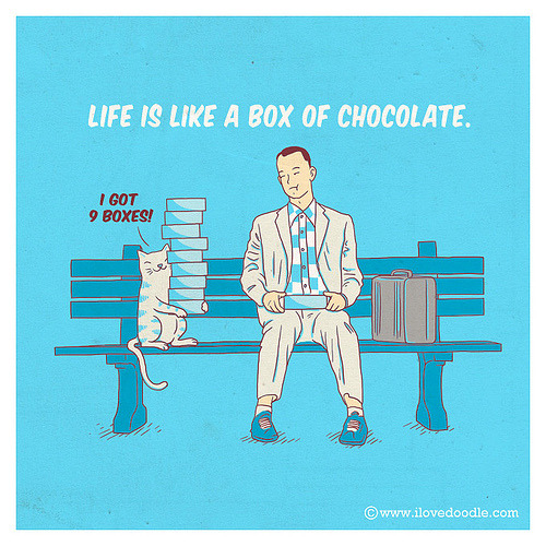 Life is like a box of chocolate (by ILoveDoodle)