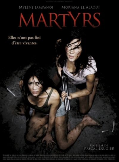 Martyrs: aka Skazani na strach [2008] *This film was a request by one of our followers. AWESOME request by the way.* So if you have not seen this movie, I will not post any spoilers. [Or at least I will TRY not to.] Just one warning if you have not seen this movie, and plan on it… It does have very GRAPHIC scenes.  Now, I love me some gory flicks, violent as they come, and anything brutal that may stumble across my screen. When you have a film that legit makes you feel bummed about a character, or even just hoping that they die soon just for the sake of their suffering to end, well, then you have yourself a winner. That's what MARTYRS is… a fucking winner. Movie starts off with a little girl running from this warehouse, dirty ass clothes on, and absolutely terrfied. Lucie, one of the main characters ends up in a foster home where she becomes friends with Anna, the other main character. Anna looks after Lucie, she's her protector, and she makes a promise to Lucie about keeping a secret of what's haunting her. The film is a mindfuck through the eyes of what pain would see, when I tell you that there's violence, I'm not talking that torture violence you see in SAW/HOSTEL I'm talking about straight up violence. Ever see a train hit a puppy? Yeah, let's just say the puppy has it a lot easier then both of these two chicks. While Lucie tries fighting her personal demons [or actual monsters?], Anna tries to be the protector she is, and tries to figure out Lucie's problems herself. Which to make a long story short makes Anna see everything clearly. What happens when it hurts too much? What happens when screaming becomes more useless than a butterfly trying to make it out of a tornado? What happens when fighting back is just as pointless as drowning at sea and using an anchor as a lifeboat? What would you do if you were left somewhere, defensless, a mere pawn in someone elses bigger plan? What do you do if you're up against something much bigger than you, much stronger than you, and much more cynical than all your nightmares put together? Do you find the strength inside to fight back? Or do you let go? What happens if you let go? What happens if you fight back? Is there a better place than darkness when you see something darker that lies passed your eyelids? Watch this film, if you want to see a domino effect of violence, answers to those questions, and maybe during this intense film you'll be able to question yourself. A story of two friends who have been put through hell, seperatly. A vicious assault on something as fragile as we call life, this film might move you in an uneasy way, this film might make your stomach shake, this film might make you feel like shit, or this film can be a snoozefest for you. Watch it, I dare you to sit through this and maybe afterwards you can see if you know what pain is. There might be something after life, but no one ever said it would be better. 9/10 ROTTING CORPSES -C