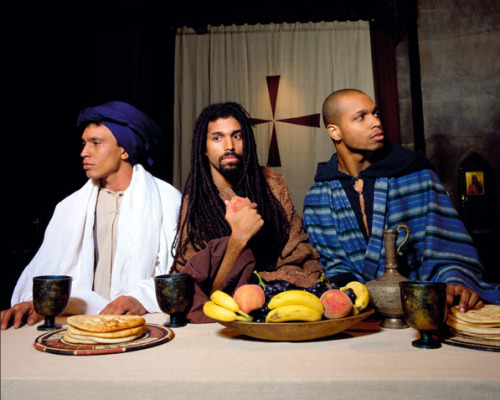 blackameriking:  Yo Mama's Last Supper (Detail 2), 1996 by Renee Cox