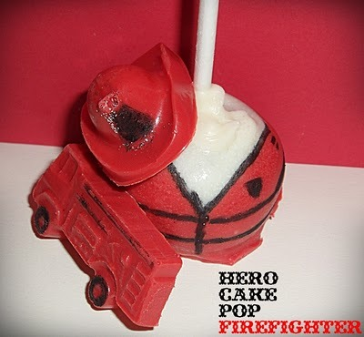 Firefighter Cake Pops!