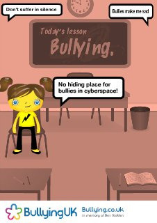 USER CREATED: Anti-bullying Poster 67929 by bullyinguk on Flickr.Via Flickr: Poster created using the Bullying UK Anti-Bullying Poster Creator visit www.bullying.co.uk/index.php/make-a-poster.html to create yours, to print this poster visit www.bullying.co.uk/poster/?id=67929 consider making a donation to support our work visit www.justgiving.com/bullyinguk