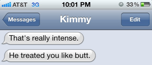 Kimmy is actually Timmy but yea.. this butthead..