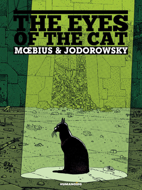 More Moebius release news! That long heard of English edition of The Eyes of the Cat(Les Yeux du Chat being the original French title) is finally coming out from Humanoids. And in two weeks no less! December 7 is the official release date: 56 pages11.95 x 16 inchesBlack and whiteISBN 9781594650581USD 69.95 So it's only 56 pages long, and those 56 pages are housed in a hardcover book at the price of $69.95. That's pretty steep, BUT: only 750 copies are being made, so I guess you get bragging rights if you get one. Or something. Also, at least it's coming out in time that you might convince some poor sap that loves you to buy you one for Christmas. And it's definitely got some things going for it that make me want to pay that $69.95. I like that this edition is going to be black and white. Previous ones have always used different degrees of yellow, that only kind of worked for me. B&W will allow Moebius' work to show through more. Also, cripes this thing is going to be big. At 11.95x16 in., that's a whole 2 inches taller than the over-sized Incal Classic Collection.