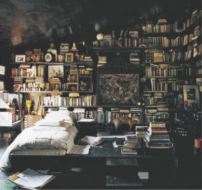 happilyawkward:  Look at all the books :O I must have that many books! I must have it!