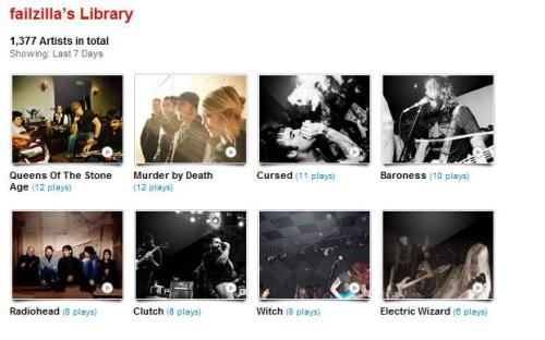 My last.fm for 11-19-11 to 11-25-11