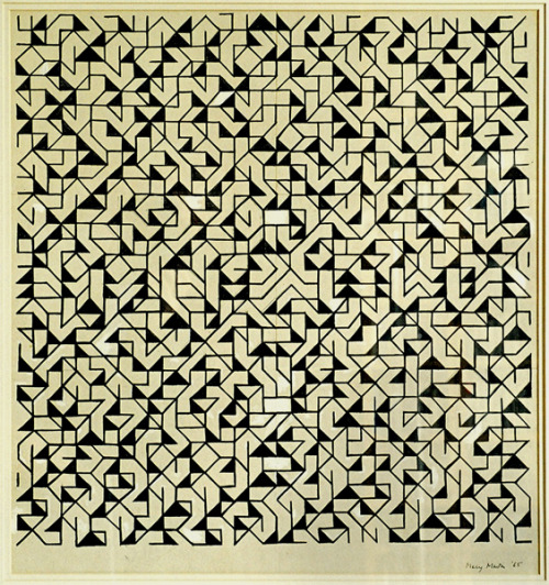 m7kenji:   Mary Martin Permutation, 1965 Pen and ink on paper