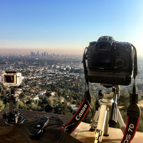 Canon 7D feat. GoPro Hero2 on Griffith Observatory #losangeles #la #hero2 #gopro #Canon #7D #Griffith #Observatory #Overlook (Taken with Instagram at Griffith Observatory)