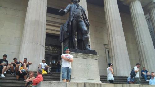 Me occupying Wall Street before it was mainstream.