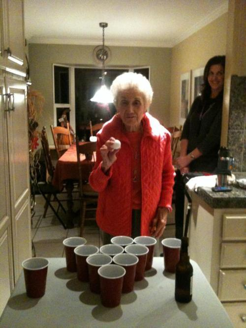 theclearlydope:  Thanksgiving got REAL.  Lol this is how my gma is a fuckin OG!