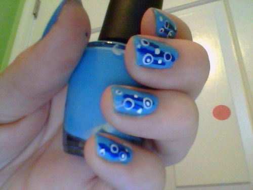 i did these nails last night and loved them! i got the inspiration for these from a google pic: http://3.bp.blogspot.com/-dfD9SMn-7wI/Tf8XiJBLoHI/AAAAAAAAKzA/JXvD9cBEcnU/s1600/New-Fashion-Popular-Nail-Art+%252810%2529.jpg