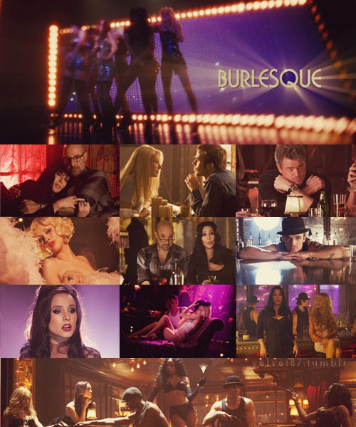 "velvet87:  100 Favorite Movies   ϟ  Burlesque (2010)  If I'm not 20 times better than ""boobs for brains"" over there, you don't have to pay me."