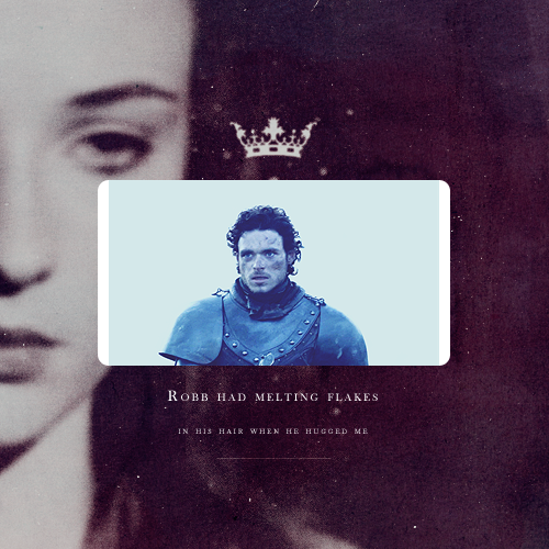 She had last seen snow the day she left Winterfell. That was a lighter fall than this, she remembered. Robb had melting flakes in his hair when he hugged me, and the snowball Arya tried to make kept coming apart in her hands. It hurt to remember how happy she'd been that morning.