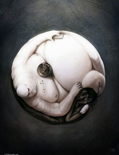for-the-love-of-creativity:  Yin and Yang of World Hunger by David Revoy