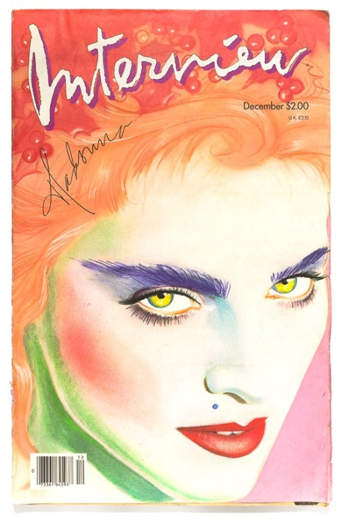 Interview, December 1986Madonna, photograph: Herb Ritts, illustration: Richard Bernstein Source: Modesquisse