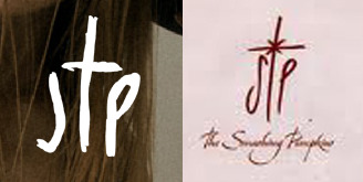 Logo comparison: Josh T Pearson's website (2011) and Smashing Pumpkins Machina era (2000)