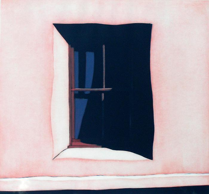 "Waldrum, Harold Joe (1934-2003)   [+]""La Ventana Hacia El Oeste"" Etching H:22 x W:22 http://windsorbetts.com/Search_by_Artist/Waldrum__Harold_Joe/index.html"