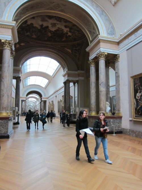 I went to the Louvre with some friends during extended hours.  Every Wednesday and Friday the Louvre is open until 9:30pm. It was certainly the least crowded I've seen it thus far.