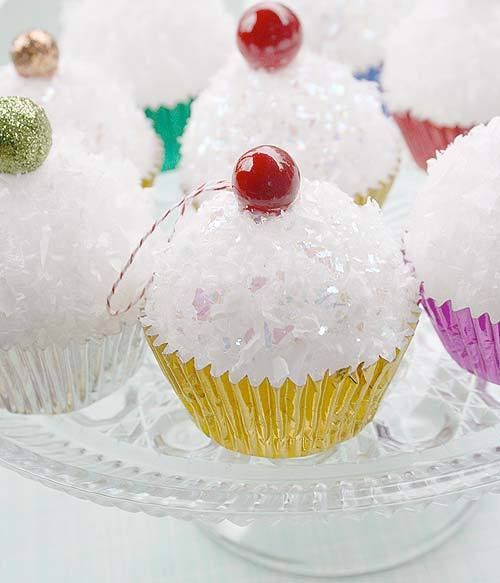 CUPCAKES!!!!  truebluemeandyou:  DIY Cupcake Ornaments. Make mini cupcakes using mini styrofoam balls. You could even use condiment cups - I even posted real mini cupcakes made with condiment cups here. Tutorial found at Factory Direct Craft Blog here.