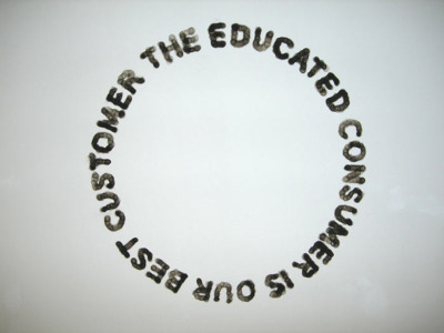 """the educated consumer"" by claire fontaine (via tylerelizabeth)"