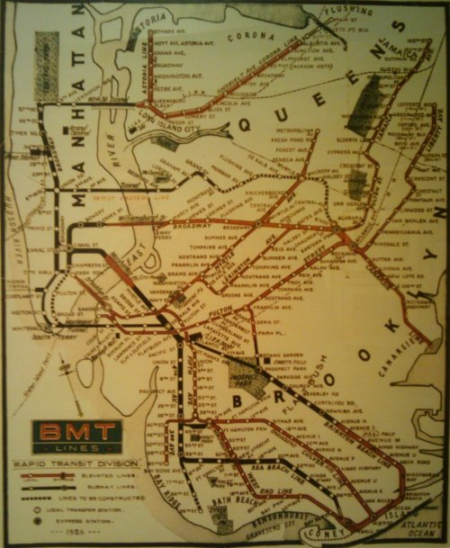 New York City subway map 1925