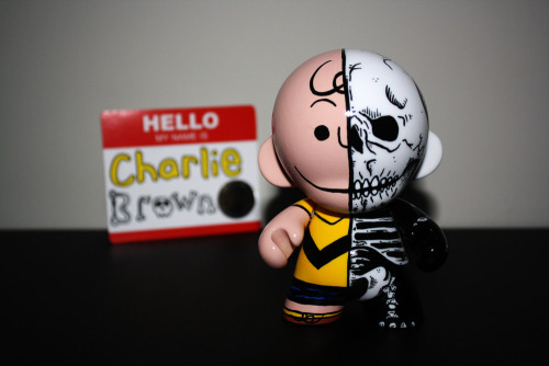 Custom hand painted Charlie Brown Munny Created by The Other Guy Available for $70 @BigCartel