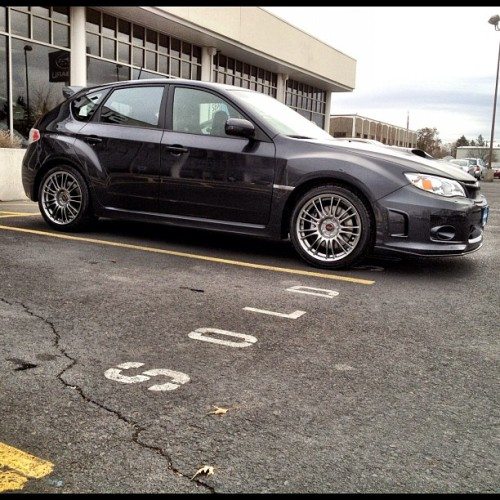 STi at the dealership that's going home soon! :) Yay for her! #Subaru #STi #hatchback (Taken with Instagram at Camp Subaru)