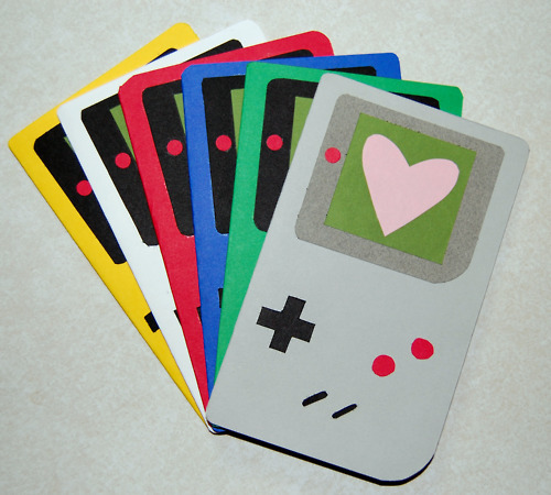 Handmade Gameboy Cards - by newbanZo Now for sale for $3 on Etsy! via GeekRest
