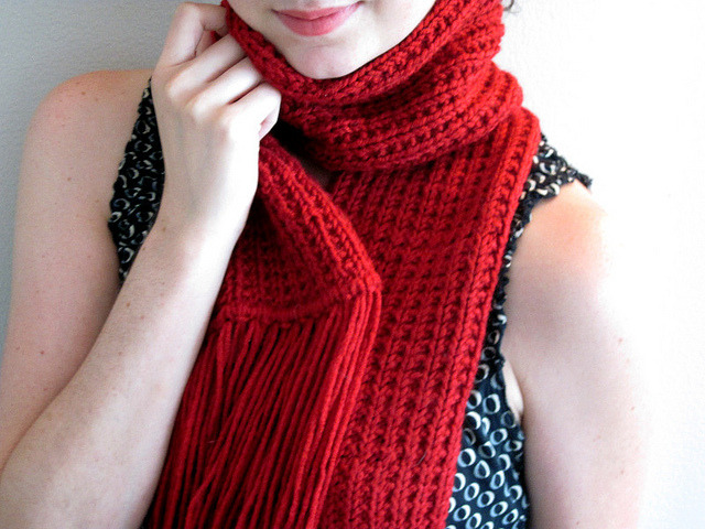 red scarf by Carly B. Designs on Flickr.