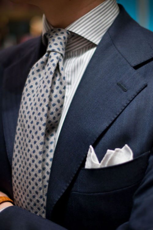 thearmoury:  Liverano, WW Chan, Drake's My favourite tie of the season. Drake's printed wool, available through info@thearmoury.com