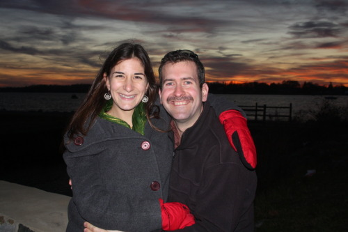 Liz and I on Bristol Harbor during yesterday's sunset stroll.
