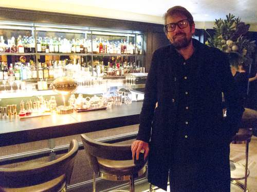 Photographer Darren Ankenman last night at the Hotel Bel Air bar.  Exclusive photo by Brad Elterman