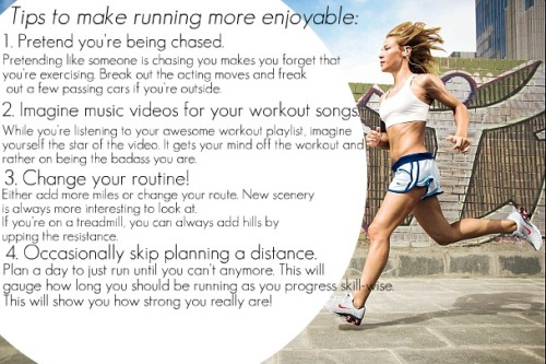 discovering-strength:  Tips to make running more fun!   DEFINITELY NUMBER 4! Have totally surprised myself with a half mara before. A+