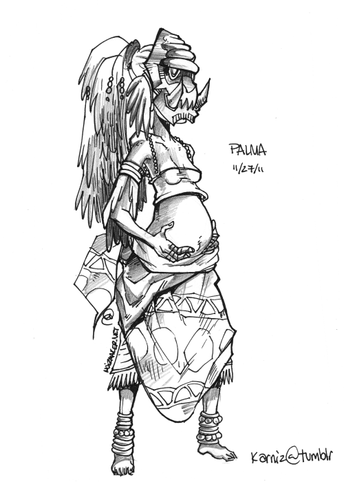 "30 Characters in 30 Days Challenge: Character #27 Palma is a midwife.The Universe the characters I will draw is one of ""Nature vs. Sci Fi""."