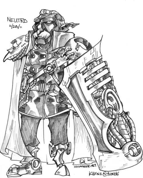 "30 Characters in 30 Days Challenge: Character #28 Neutro is the Highpoint Ruler.The Universe the characters I will draw is one of ""Nature vs. Sci Fi""."