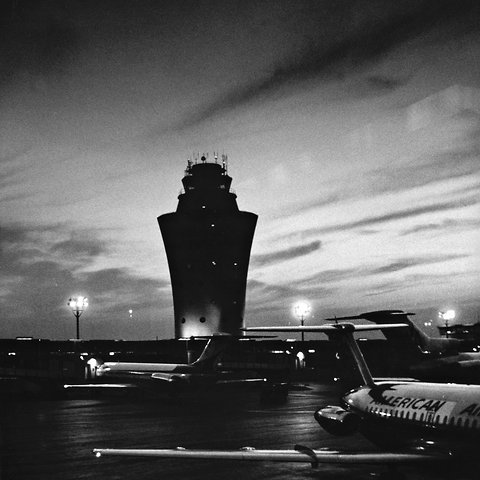 La Guardia Airport's old air traffic control tower.