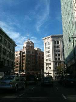 sunny day in downtown sf