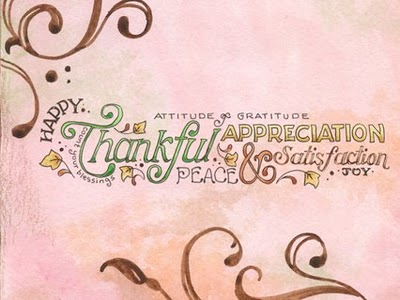 Be thankful  & gain appreciation  Count your blessings!